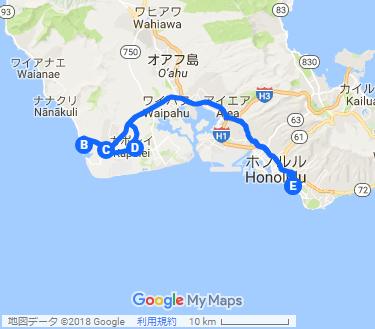 最新リゾート&最新ショッピングタウン 満喫ツアーの地図