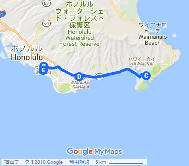 絶景ココヘッドに行く体力消耗ツアーの地図